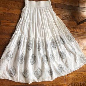 3 for 15 White maxi skirt